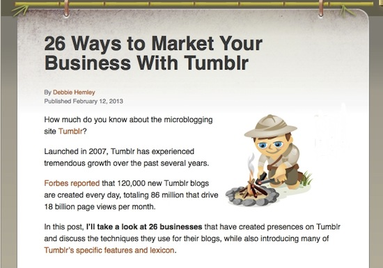 26 ways to market your business with Tumblr