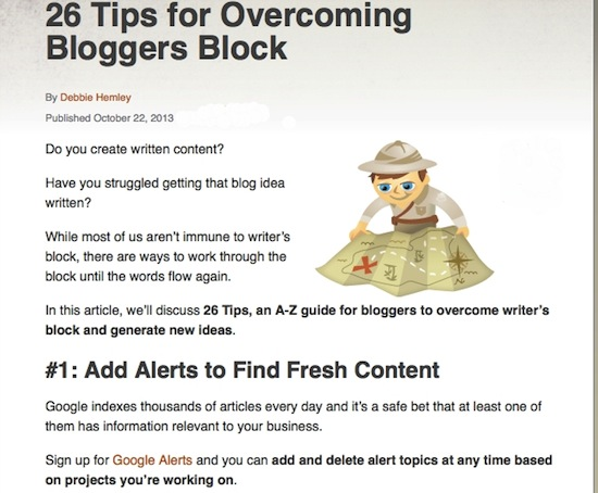 26 bloggers tips